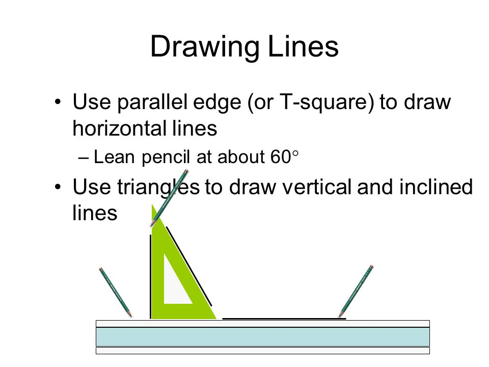 Drawing Using Only Horizontal Lines : Shows the beginning and end of measurement ppt