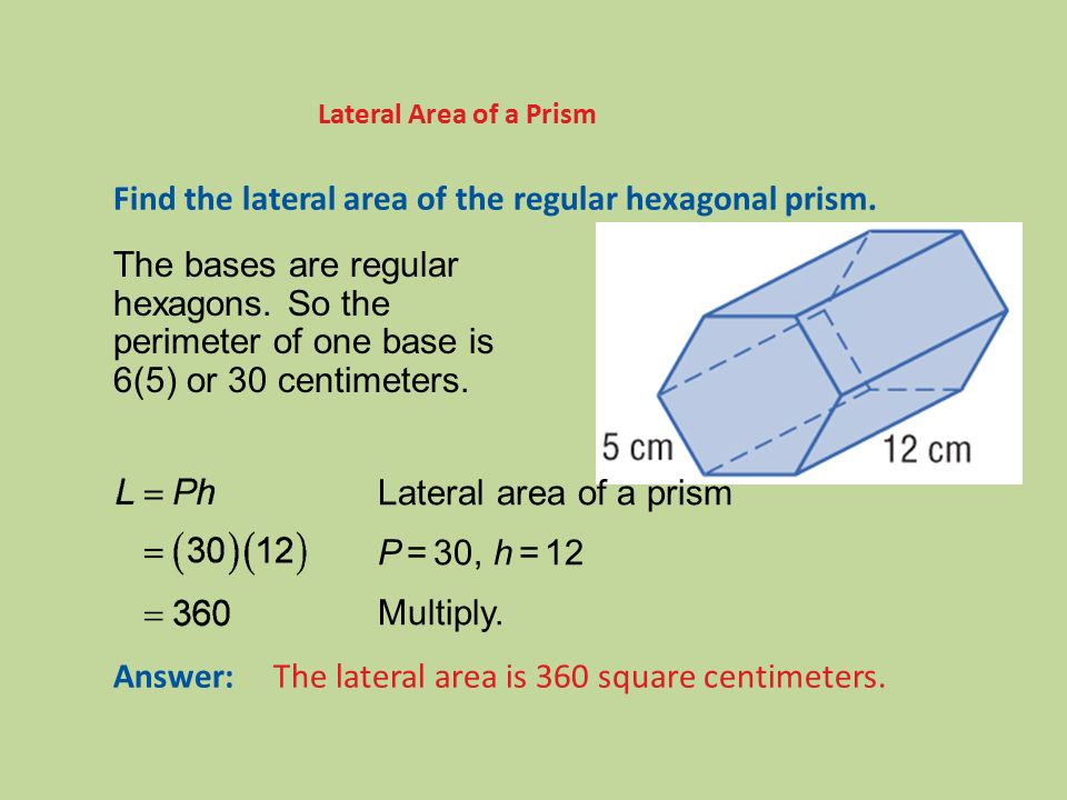 how to get tje area for and octogonal