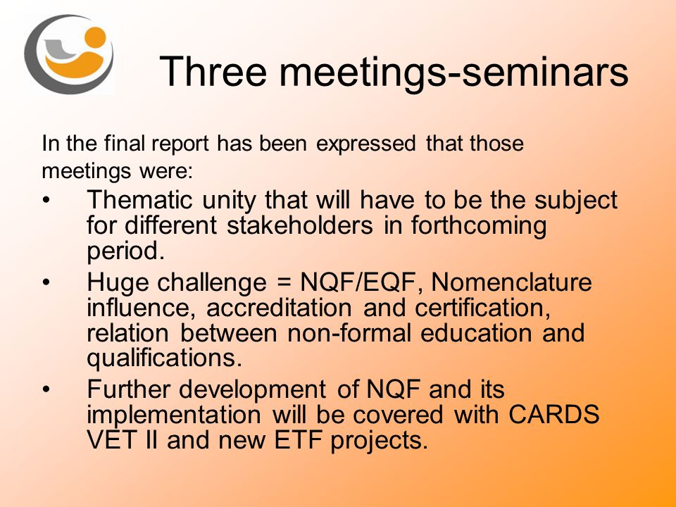 Three meetings-seminars