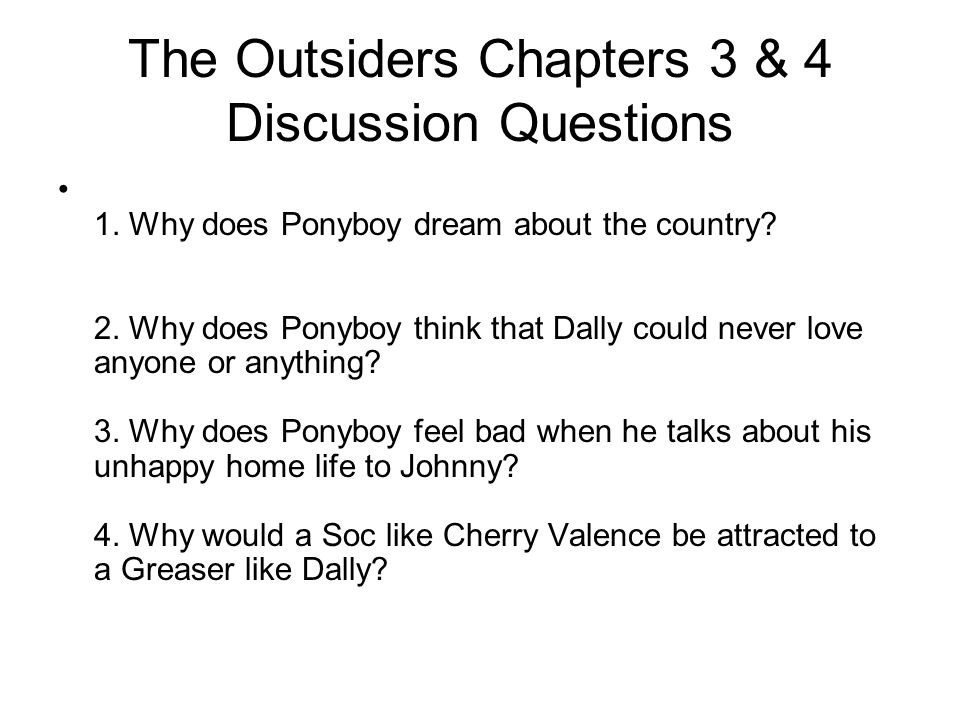 the outsiders essay questions and answers The outsiders movie is based on a book written by se hinton  the outsiders analysis essay  ukessays is a trading name of all answers ltd,.