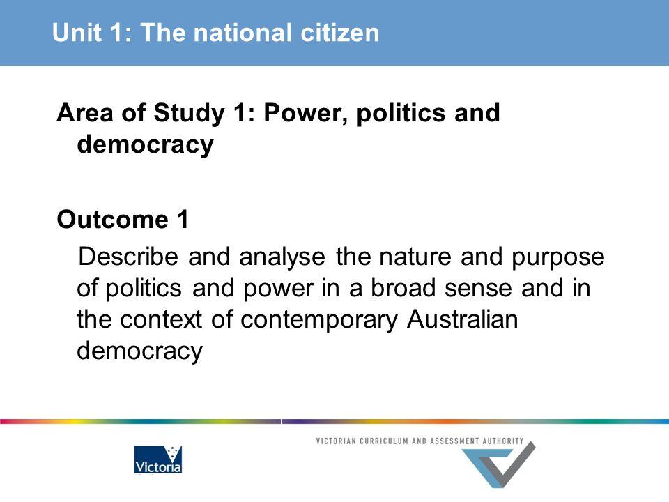 Unit 1: The national citizen