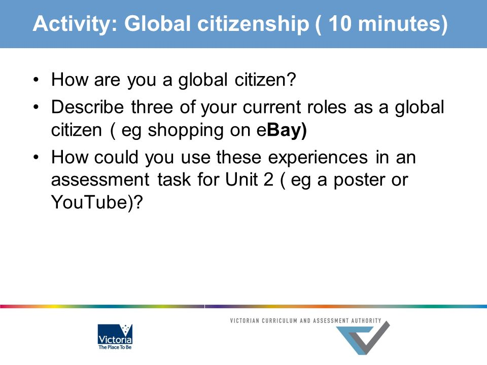 Activity: Global citizenship ( 10 minutes)