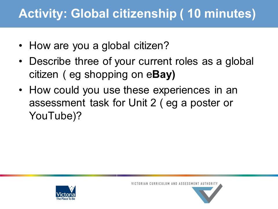 Activity: Global citizenship ( 10 minutes)