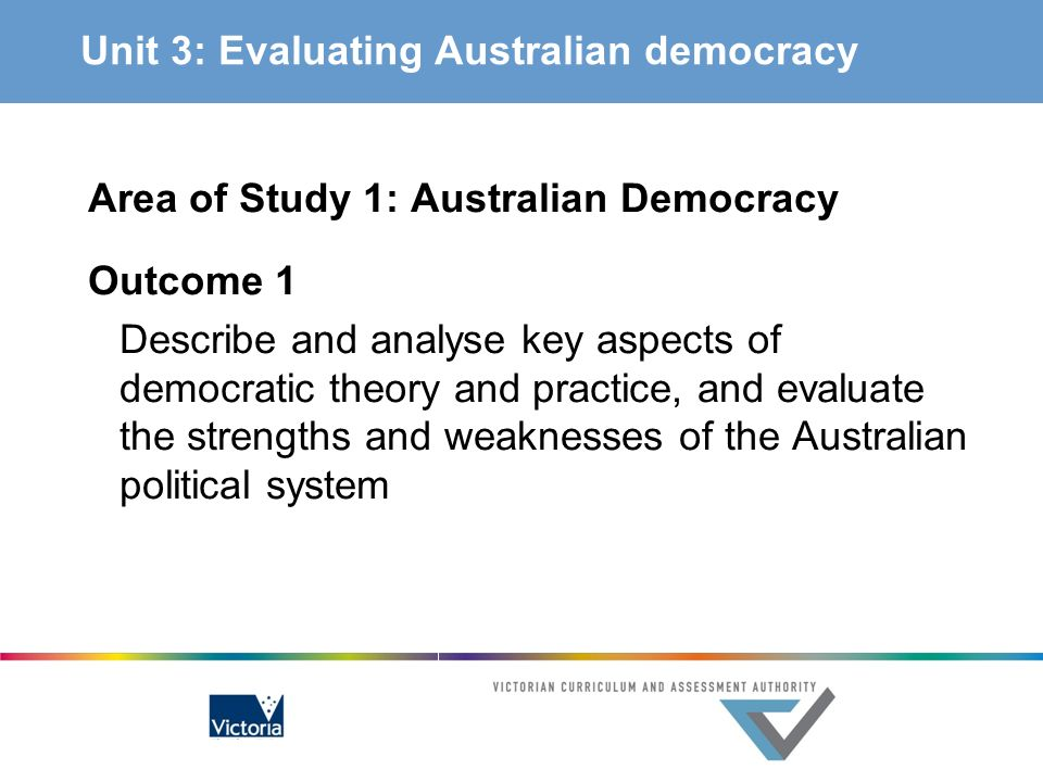 Unit 3: Evaluating Australian democracy