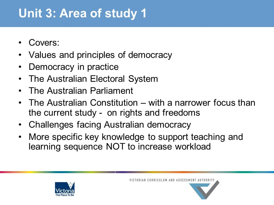 Unit 3: Area of study 1 Covers: Values and principles of democracy