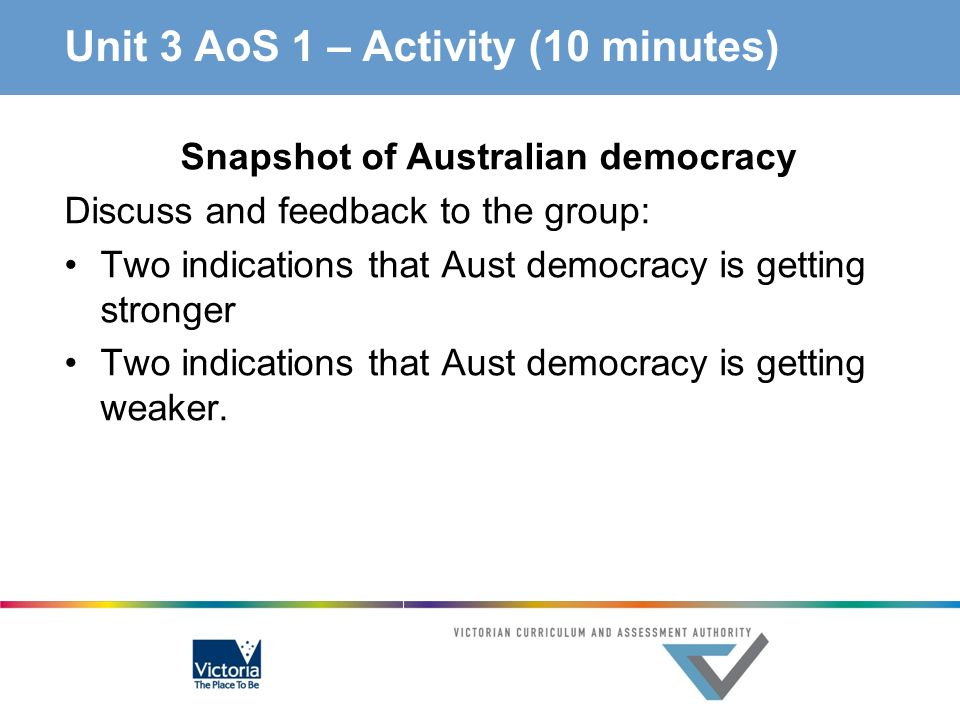 Unit 3 AoS 1 – Activity (10 minutes)