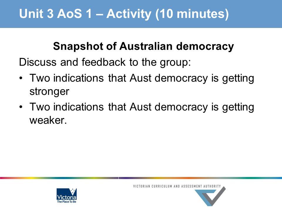Unit 3 AoS 1 – Activity (10 minutes)