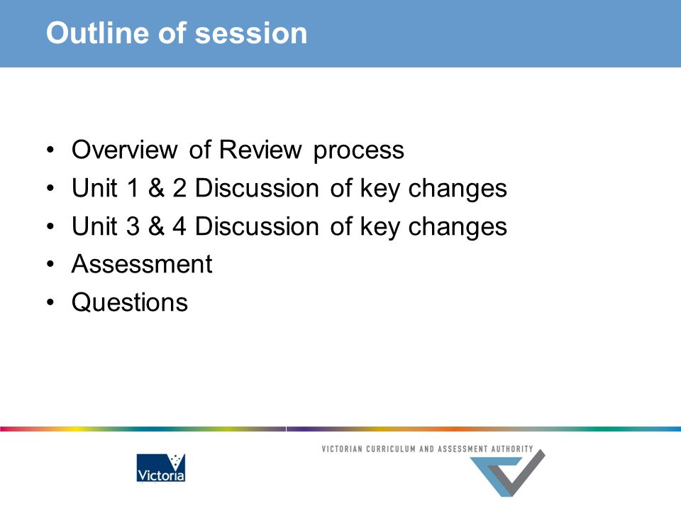 Outline of session Overview of Review process