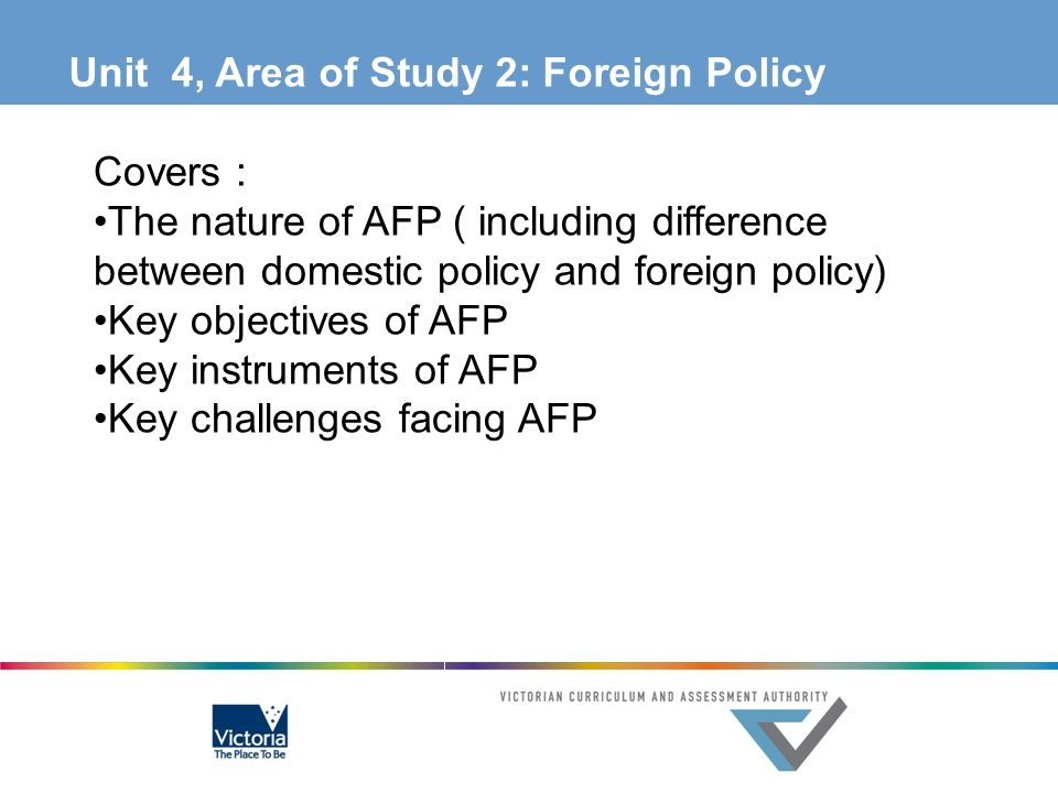 Unit 4, Area of Study 2: Foreign Policy