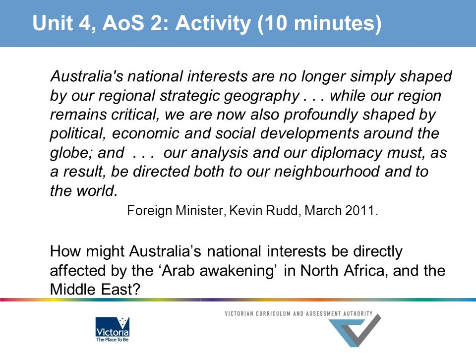 Unit 4, AoS 2: Activity (10 minutes)