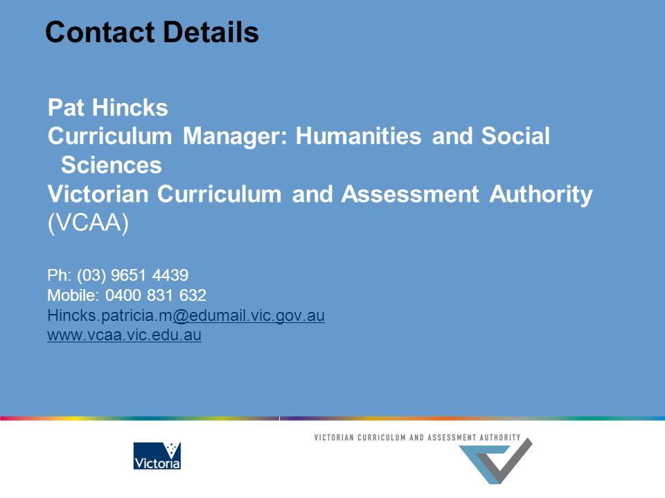 Contact Details Pat Hincks