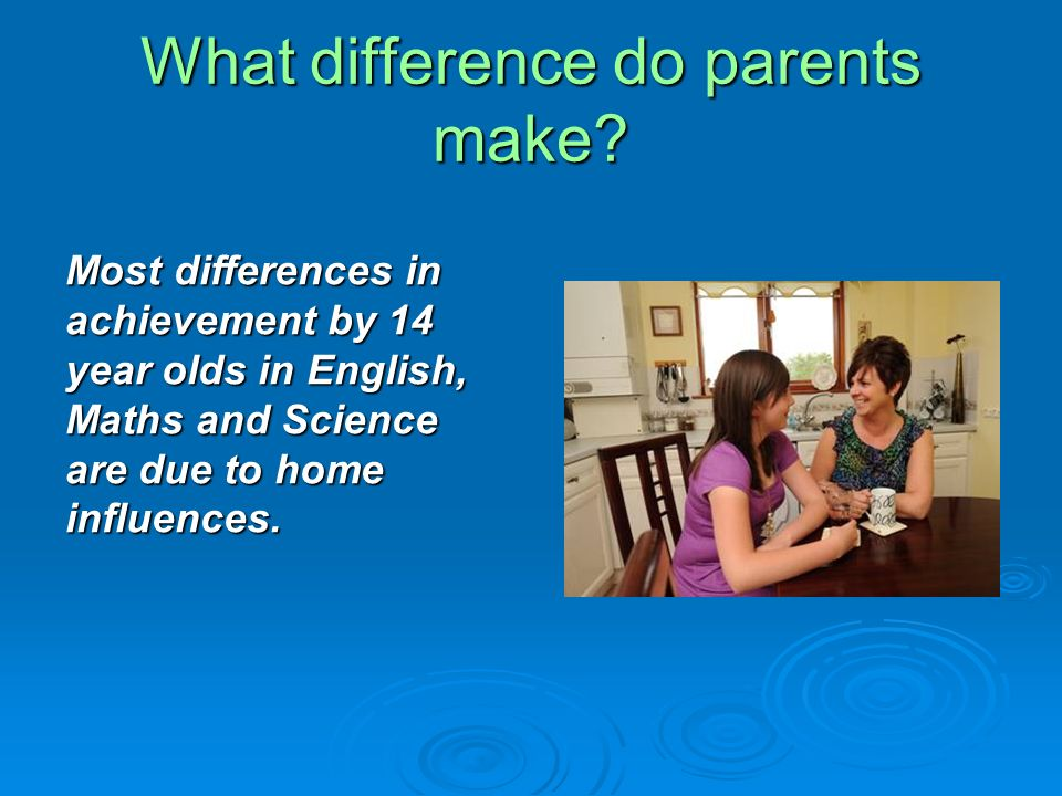 What difference do parents make