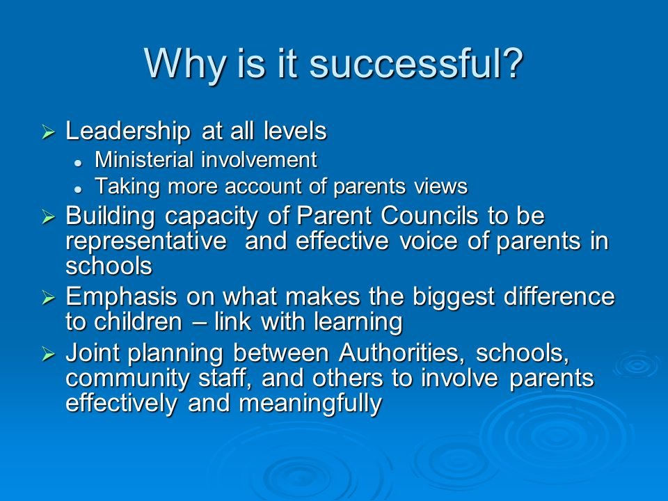 Why is it successful Leadership at all levels