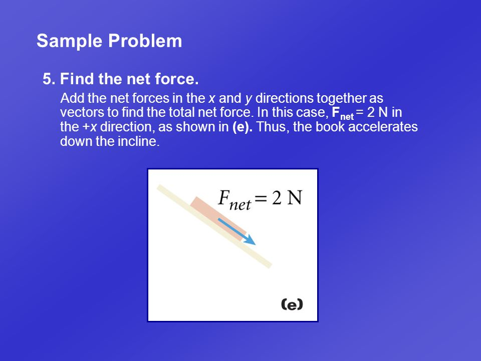 Sample Problem 5. Find the net force.