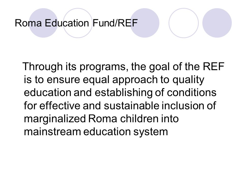 Roma Education Fund/REF