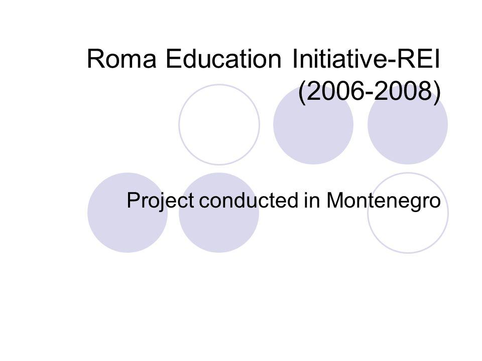 Roma Education Initiative-REI (2006-2008)