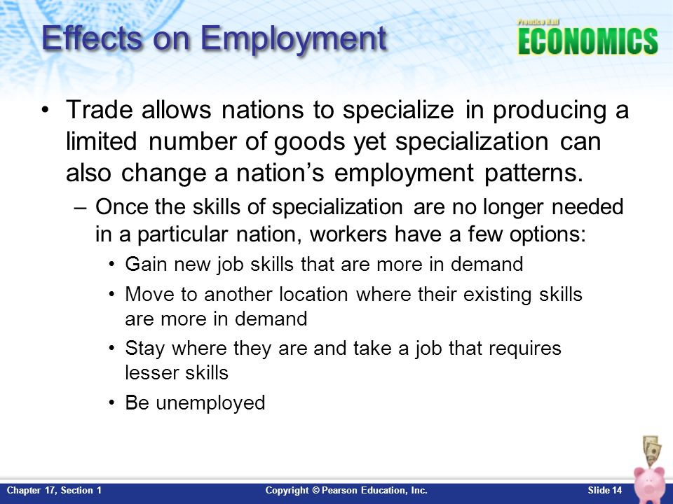 Chapter International Trade Section Ppt Download - Changes in us employment international mapping pearson education inc