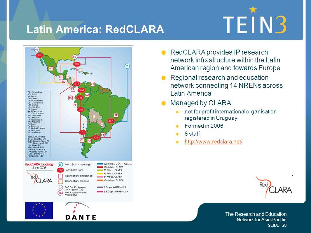 Latin America: RedCLARA