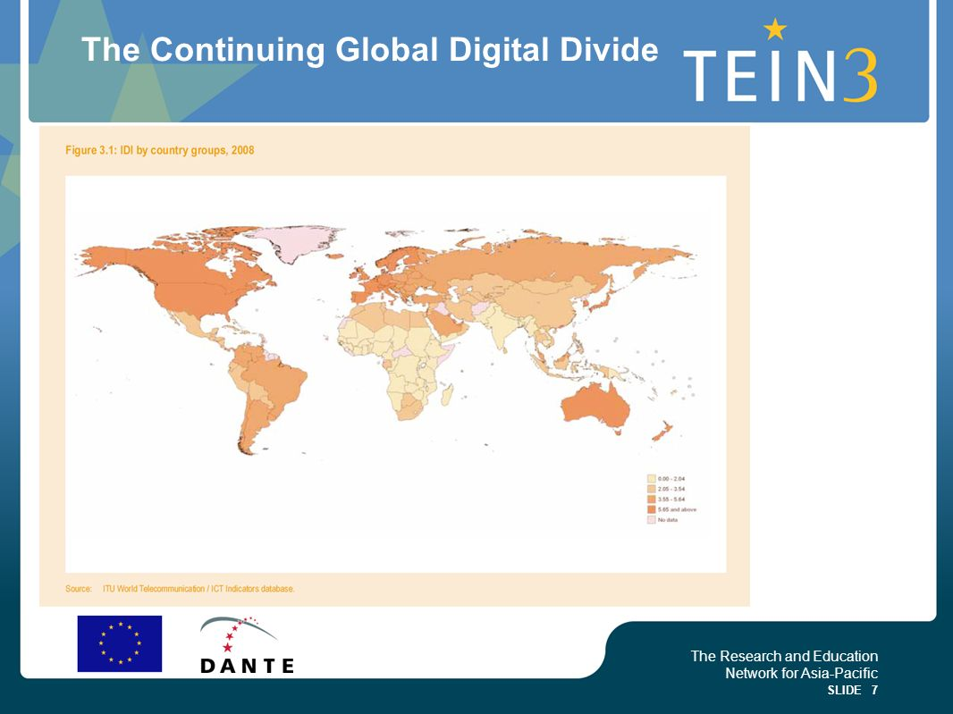 The Continuing Global Digital Divide
