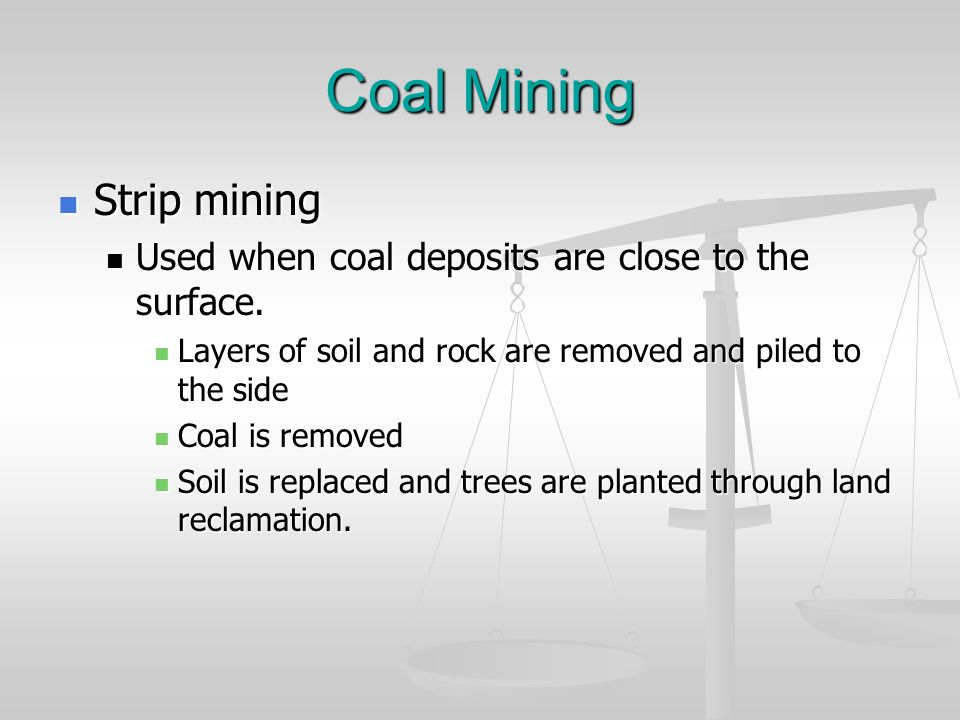 Coal Mining Strip mining