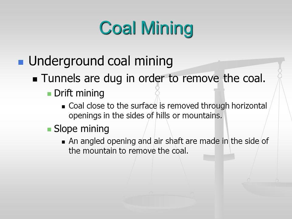 Coal Mining Underground coal mining