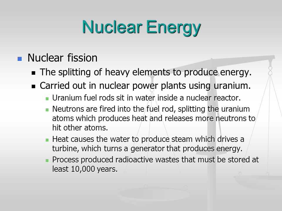 Nuclear Energy Nuclear fission