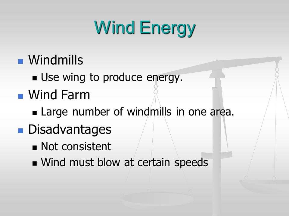 Wind Energy Windmills Wind Farm Disadvantages