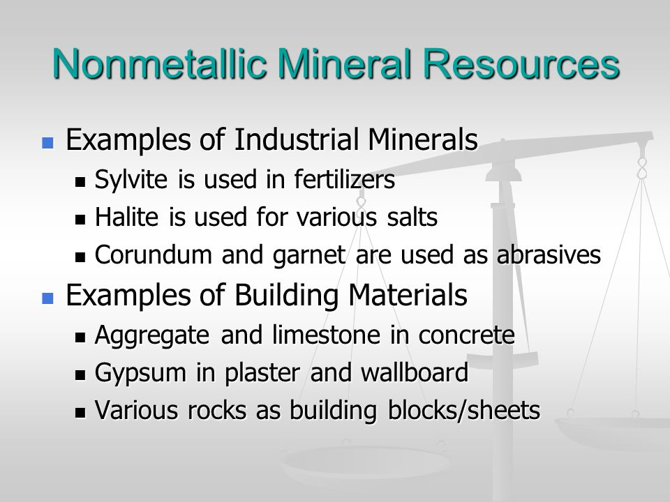 Nonmetallic Mineral Resources