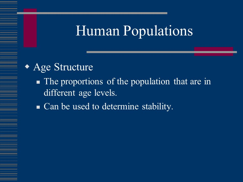 Human Populations Age Structure