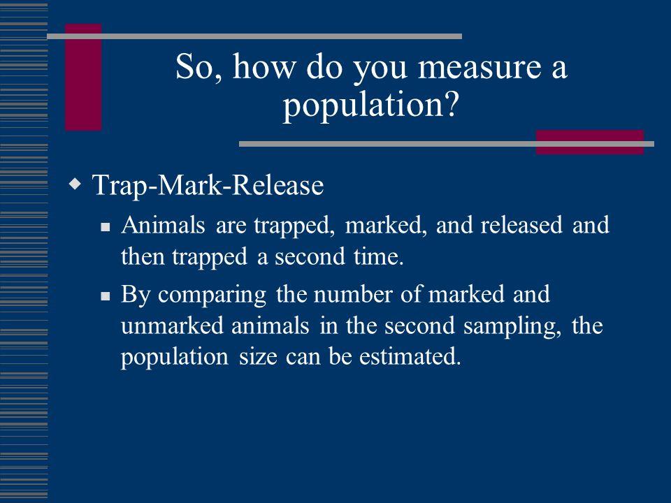 So, how do you measure a population