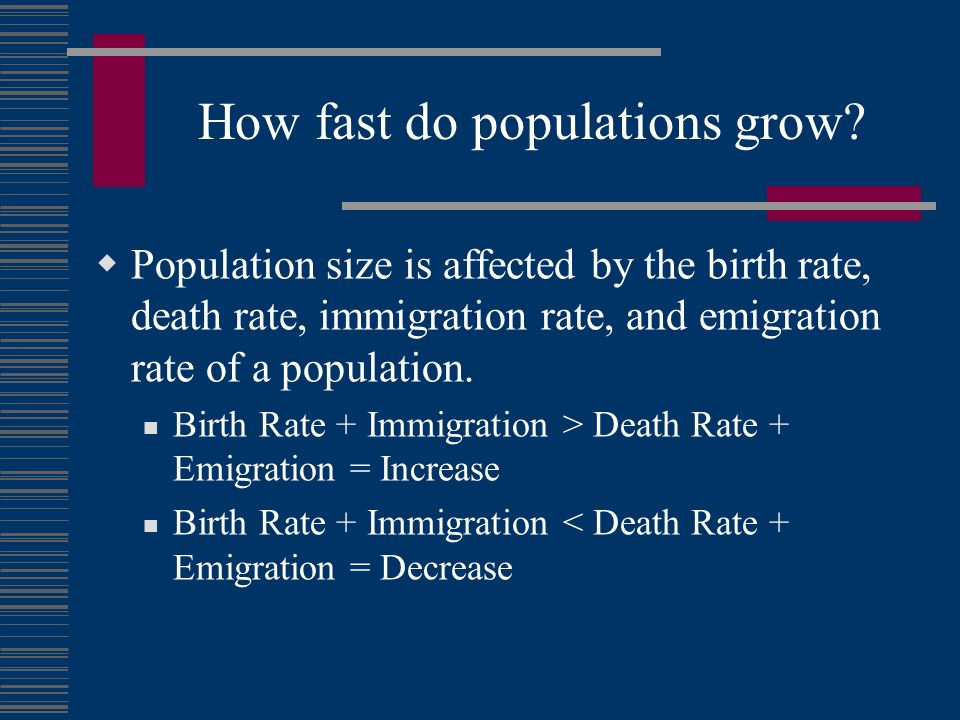 How fast do populations grow