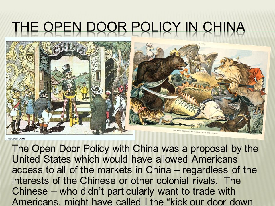 The Open Door Policy In China