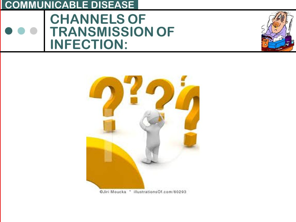 COMMUNICABLE DISEASE CHANNELS OF TRANSMISSION OF INFECTION:
