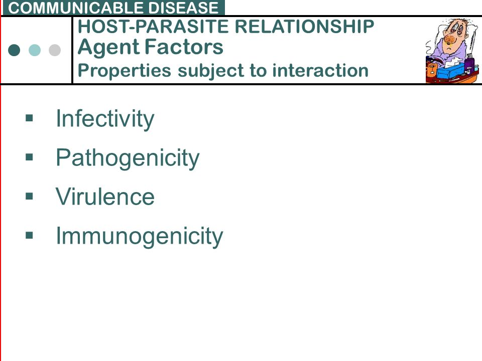 Infectivity Pathogenicity Virulence Immunogenicity Agent Factors