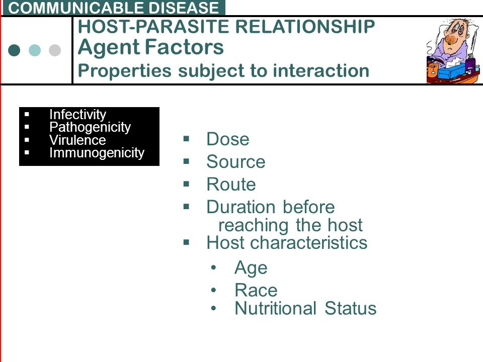 Agent Factors HOST-PARASITE RELATIONSHIP