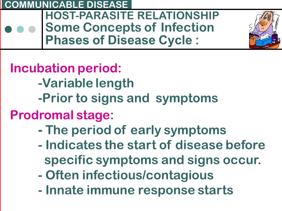 Some Concepts of Infection Phases of Disease Cycle :