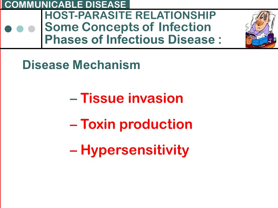 Tissue invasion Toxin production Hypersensitivity