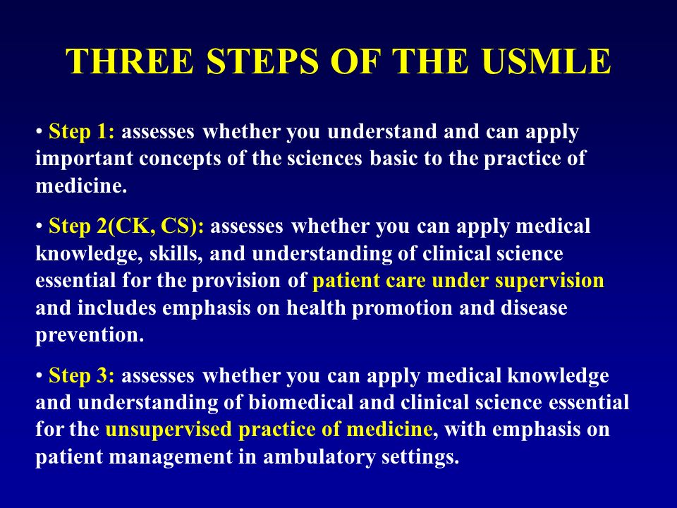 Medical doctors in usa how to prepare usmle ppt video online three steps of the usmle malvernweather Gallery