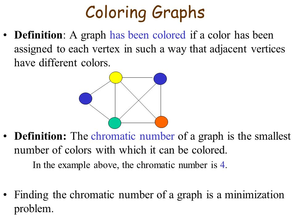 7 Coloring Graphs Definition