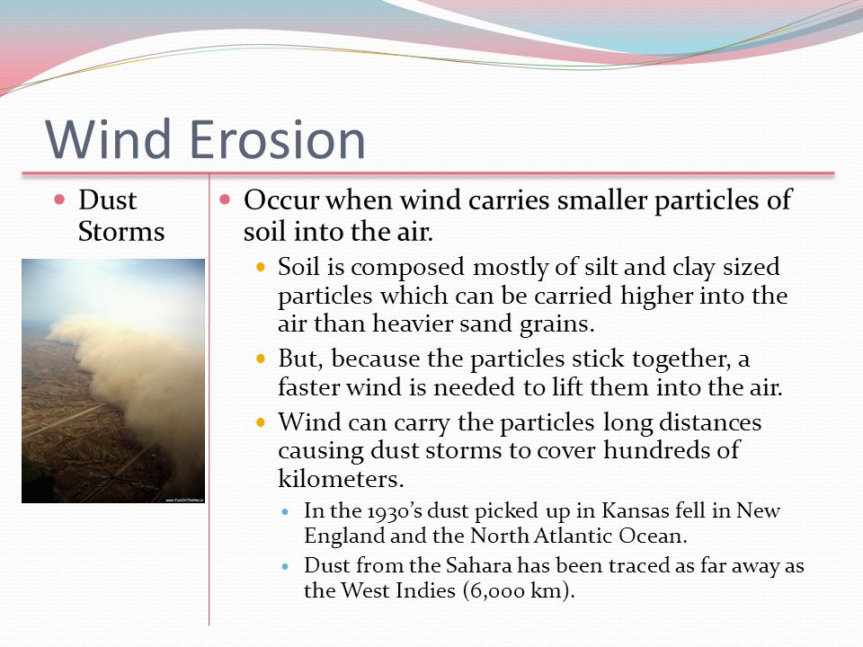 Wind Erosion Dust Storms
