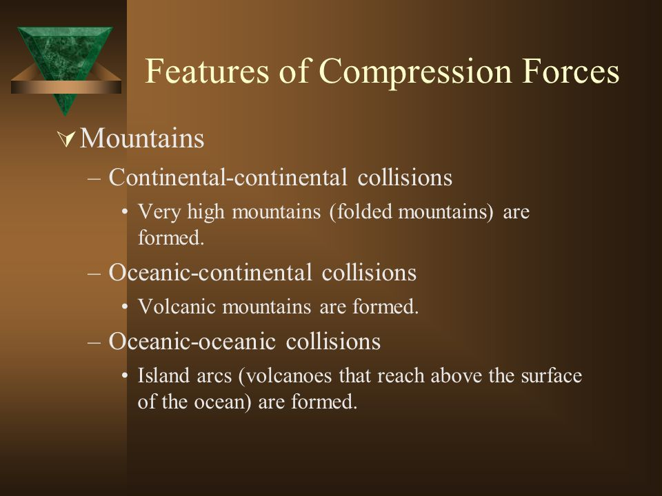 Features of Compression Forces