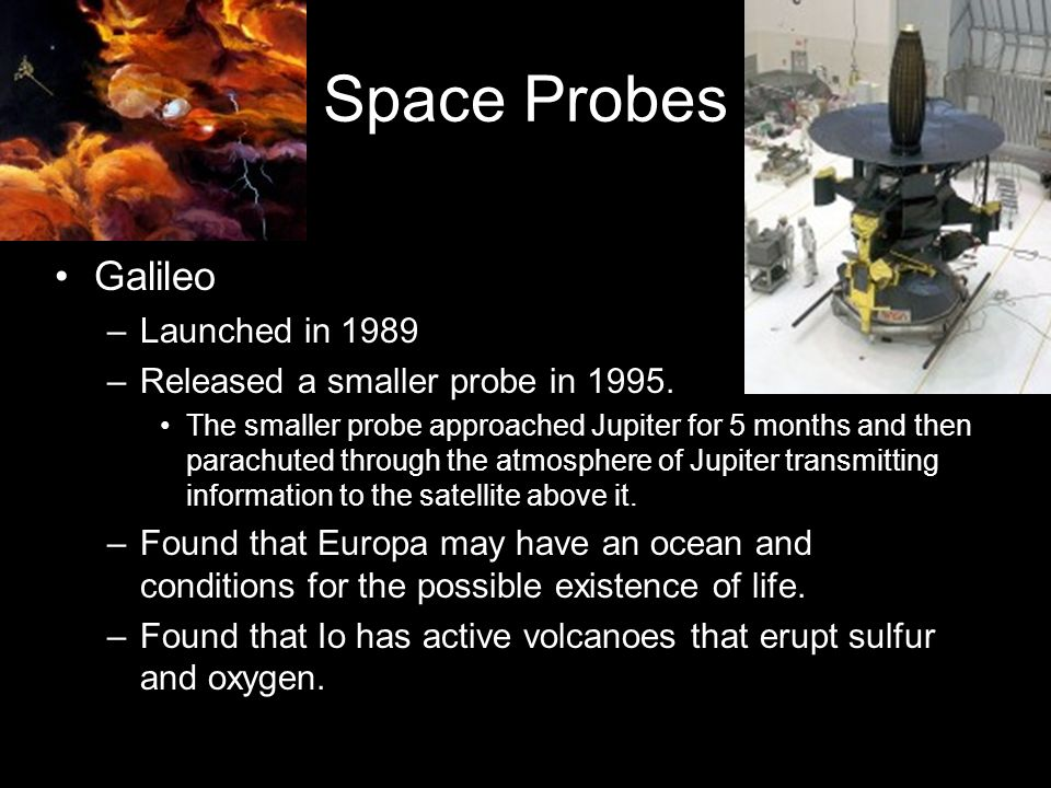 Space Probes Galileo Launched in 1989