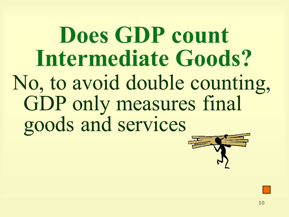 Does GDP count Intermediate Goods