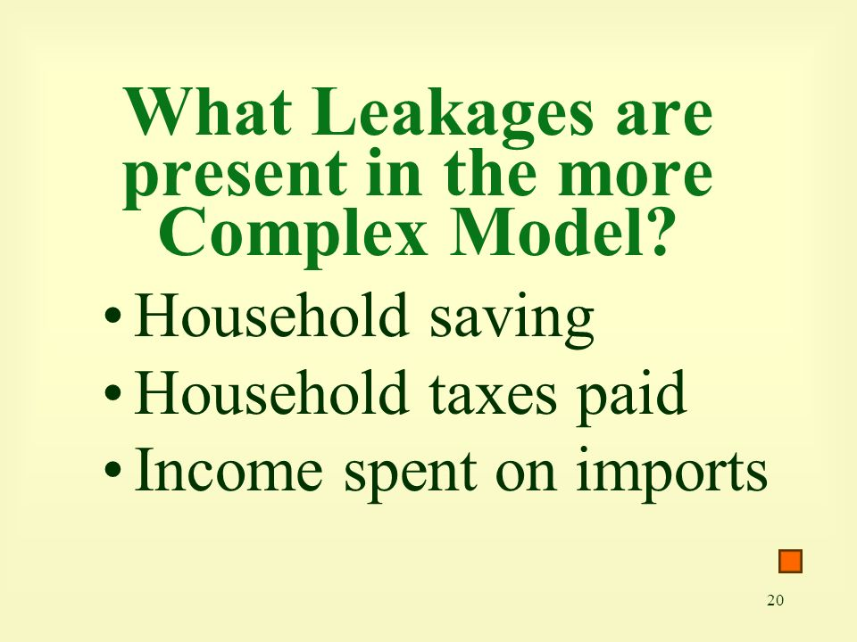 What Leakages are present in the more Complex Model