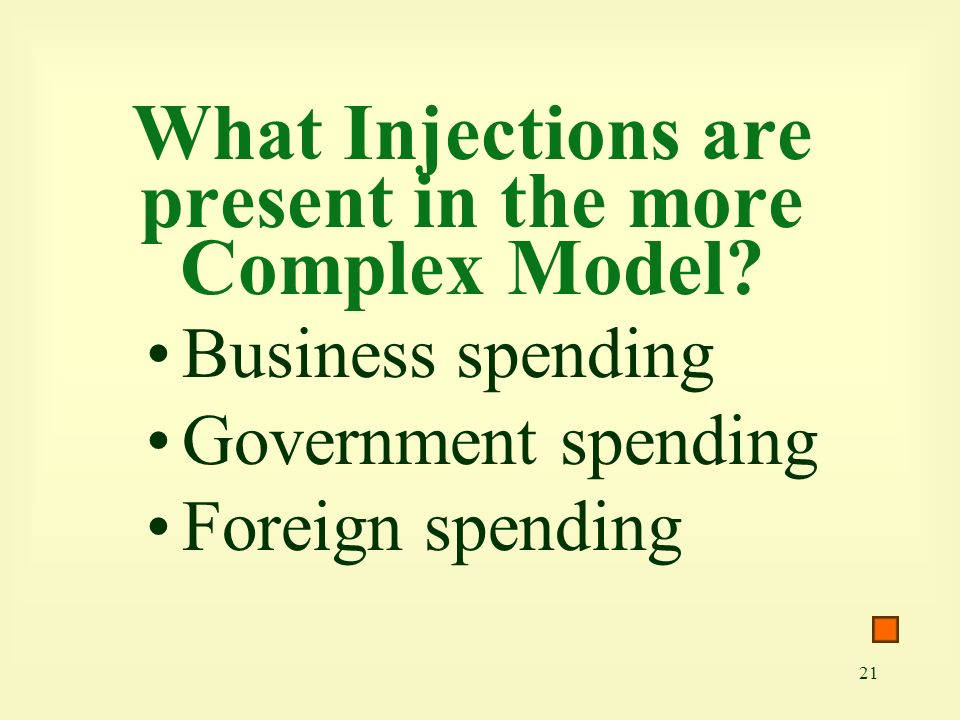 What Injections are present in the more Complex Model