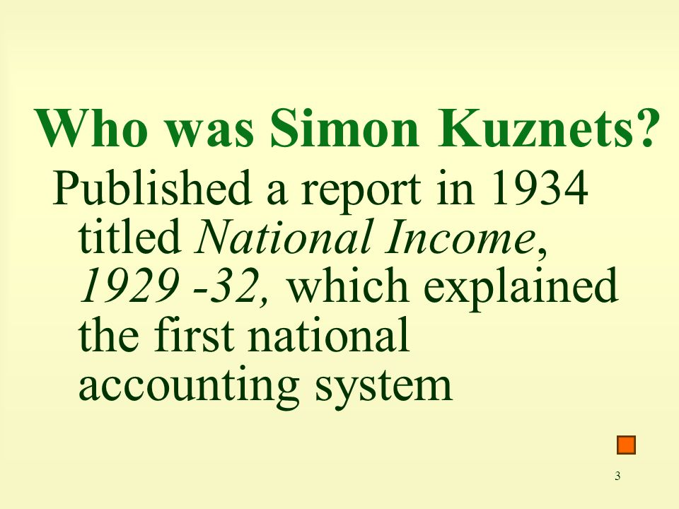 Who was Simon Kuznets.