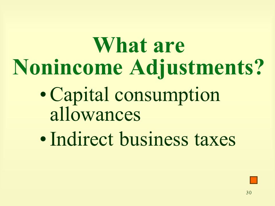 What are Nonincome Adjustments