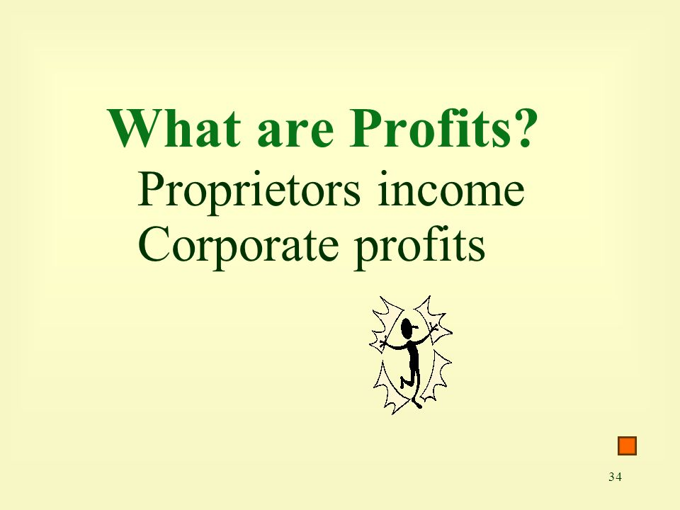 What are Profits Proprietors income Corporate profits