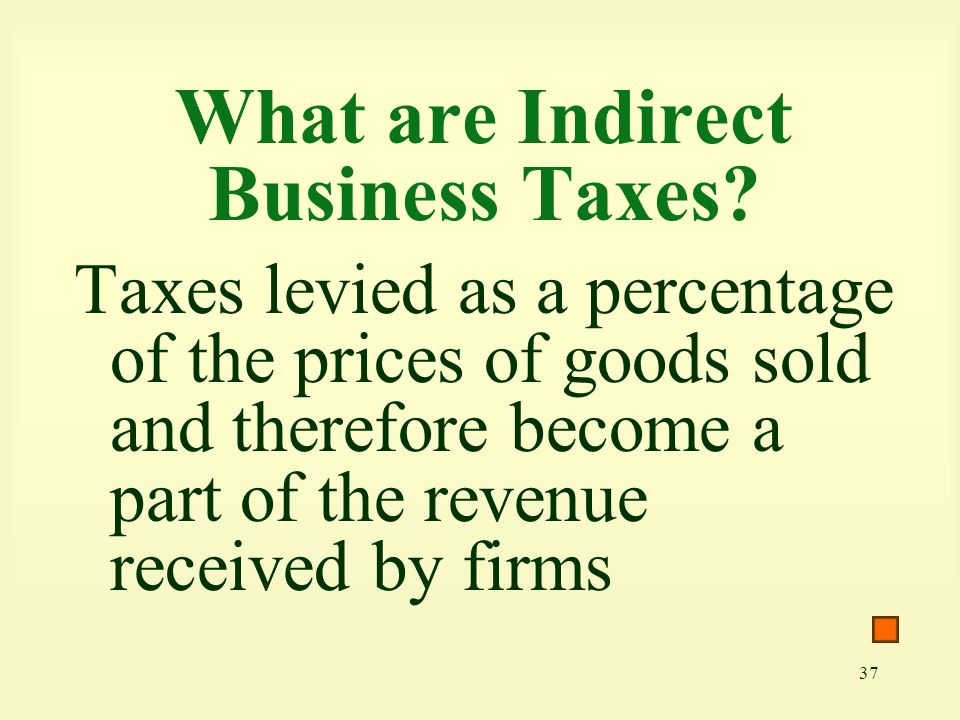 What are Indirect Business Taxes