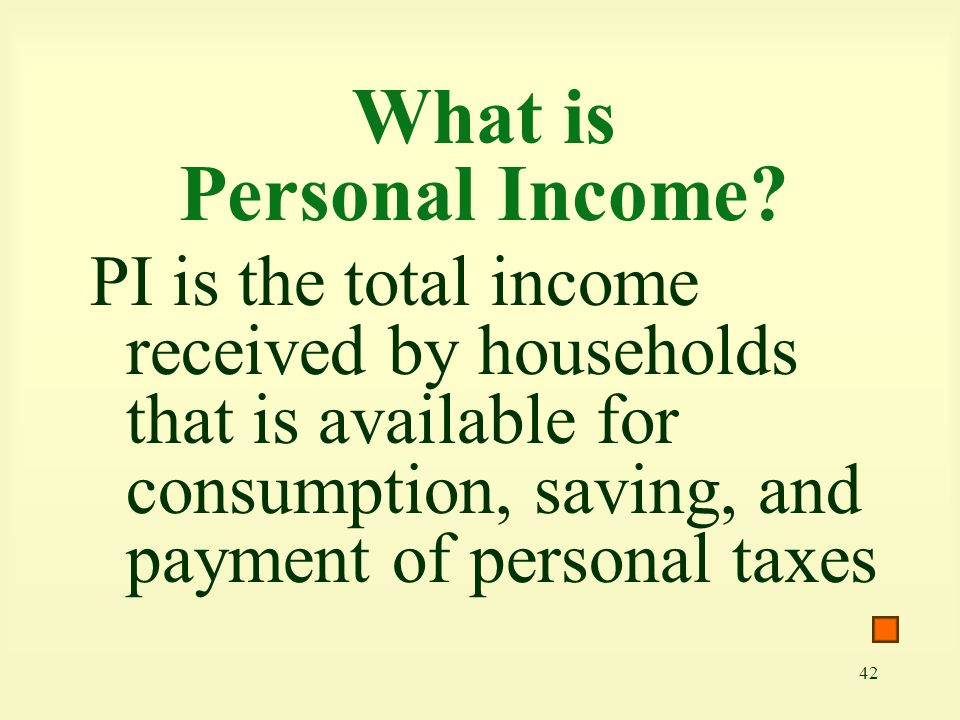 What is Personal Income